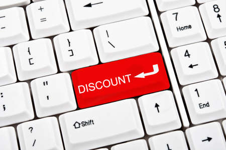 Discount key in place of enter key Stock Photo - 9339482
