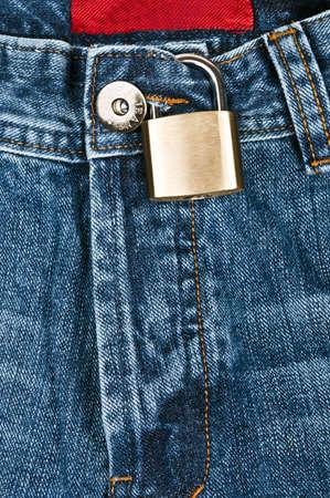 denim jeans: Blue denim jeans close up