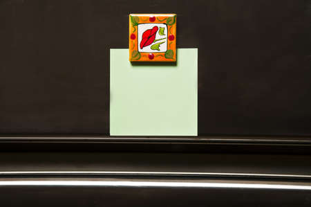 Refrigerator empty note close-up Stock Photo - 9346246
