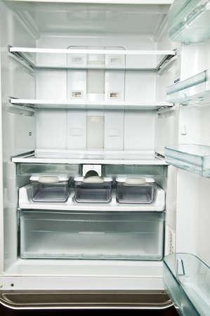 shelfs: Empty refrigerator shelfs close up  Stock Photo