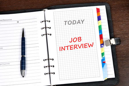 Job  interview on today page Stock Photo - 9627674