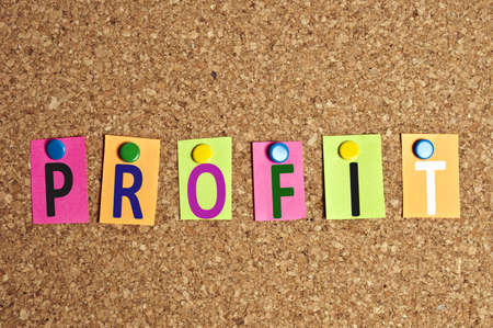 Profit word made of post-it Stock Photo - 9627696