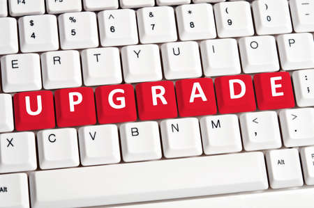 upgrade: Upgrade word on white keyboard