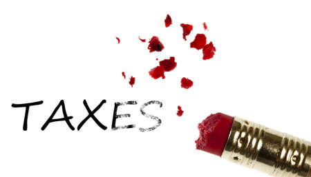 impuestos: Palabra de impuestos borrada por borrador de l�piz
