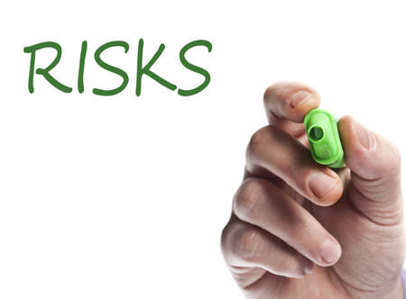 Hand write with green marker risks Stock Photo - 9627141