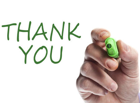 Hand write with green marker Thank you photo