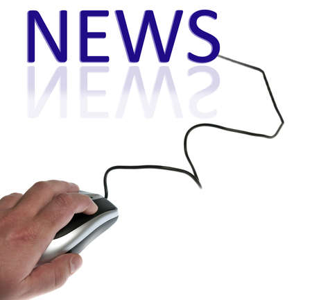 News word connected with pc mouse Stock Photo - 9627190