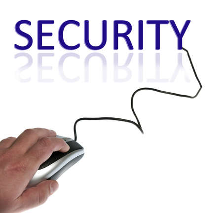 electronic security: Security word connected with pc mouse