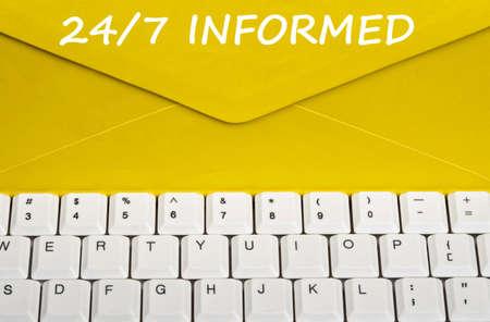 informait: 247 informed message on envelope Banque d'images
