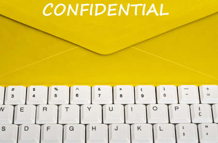 Confidential message on envelope photo