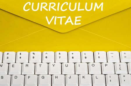 curriculum: Curriculum Vitae message on envelope
