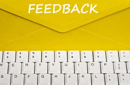 Feedback message on envelope photo