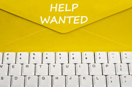 stationery needs: Help wanted message on envelope