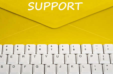 Support message on envelope photo