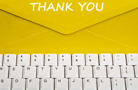 Thank youmessage on envelope photo
