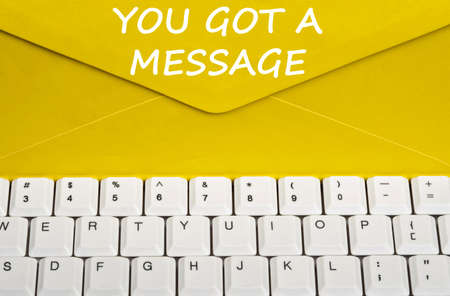got: You got message on envelope Stock Photo