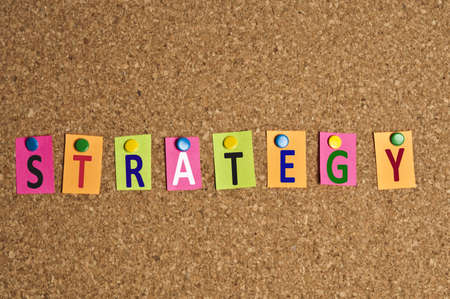 Strategy word made of post it photo