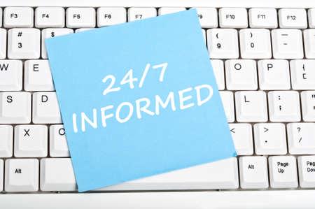 informait: 247 informed mesage on keyboard