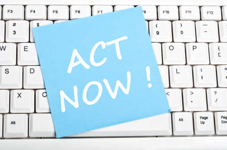 Act now mesage on keyboard Stock Photo - 9628383