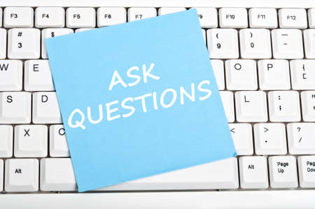 Ask question mesage on keyboard Stock Photo - 9628531