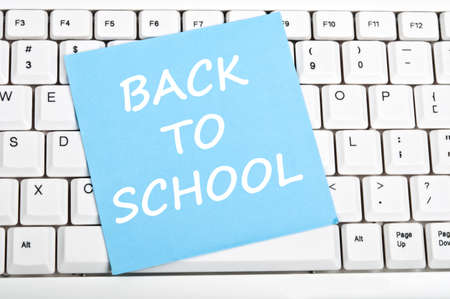 Back to school mesage on keyboard Stock Photo - 9628528