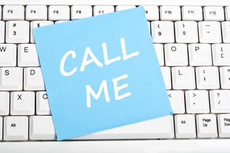 Call me mesage on keyboard Stock Photo - 9628381