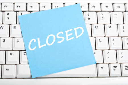 Closed mesage on keyboard Stock Photo - 9628388