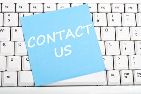 contact information: Contact us mesage on keyboard
