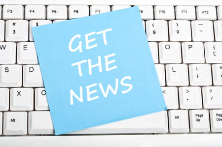 Get the news mesage on keyboard Stock Photo - 9628417