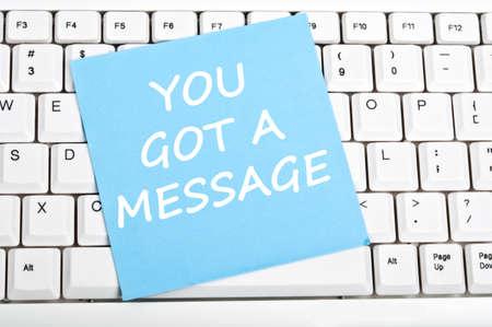 You got message mesage on keyboard Reklamní fotografie - 9628536