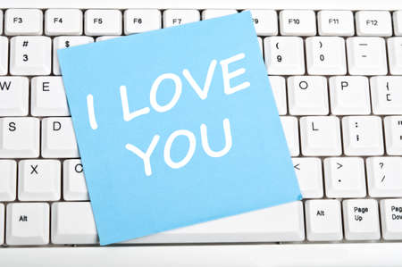 I love you mesage on keyboard Stock Photo - 9628387