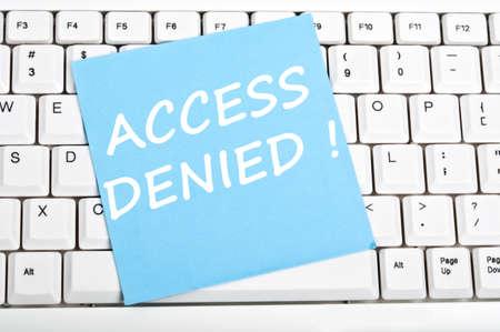 Access denied mesage on keyboard photo