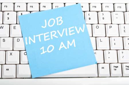 Job interview Mesage auf Tastatur