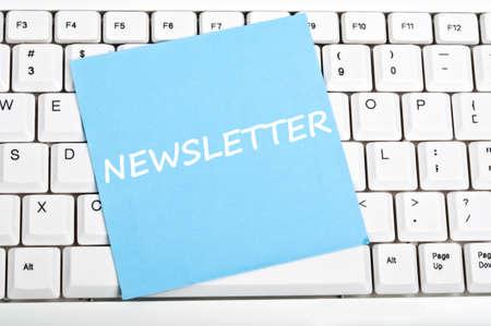 Newsletter mesage on keyboard photo