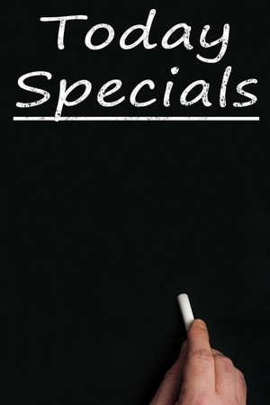 specials: Today specials write on black board