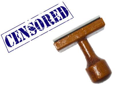 censor: Censored stamp on white background