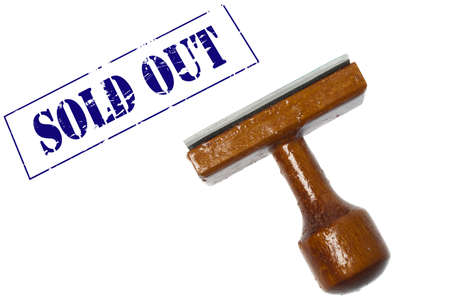Sold out stamp on white background Stock Photo - 9627846