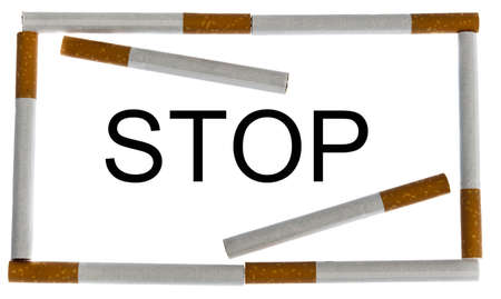 Stop cigarette message in frame photo