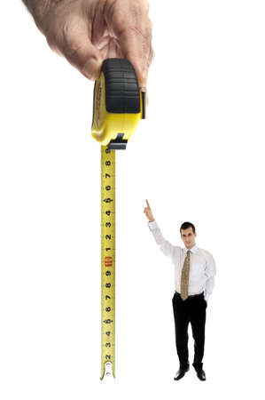 Measurement tape on white background photo