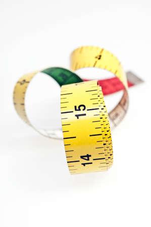 measurement tape: Measurement tape on white background