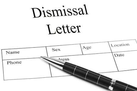despido: Ad carta de despido una pluma