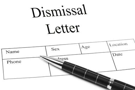Dismissal Letter Ad An Pen Stock Photo Picture And Royalty Free