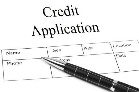 Credit Application and an pen Stock Photo - 10063091