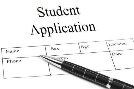 application form: Student Application and an pen
