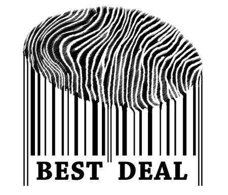 Best Deal on barcode with fingerprint Stock Photo - 10064072