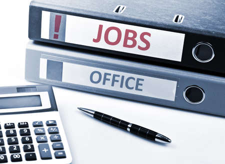 stationery needs: Jobs write on folder and office tools