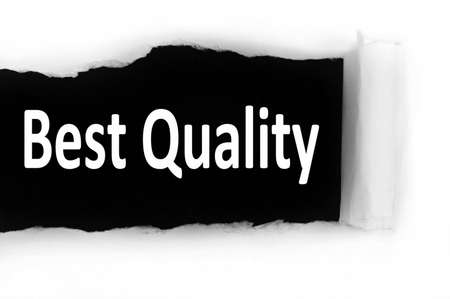 discovered: Best Quality word discovered under paper