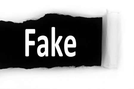 discovered: Fake word discovered under paper