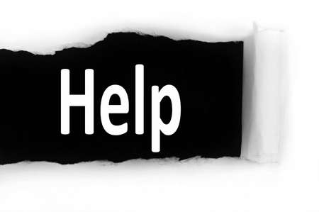 discovered: Help word discovered under paper