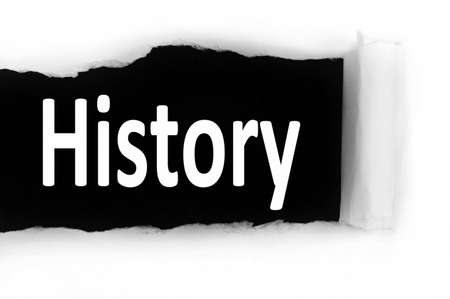 discovered: History word discovered under paper